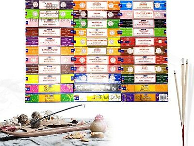 Genuine Original Satya Nag Champa Incense Joss Sticks Home Fragrance 15g