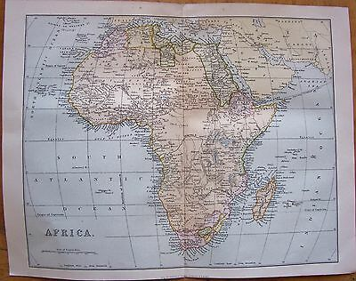 1880 Map of Africa -William McKenzie (Scale approx 600 miles=1 inch)