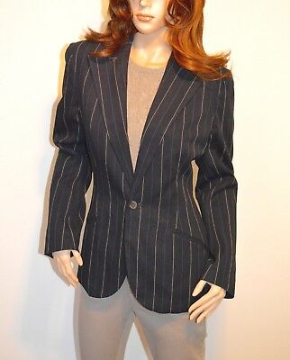 New $498 Polo Ralph Lauren Blazer/Jacket sz 12 Indigo Blue Pinstripe 1 Button