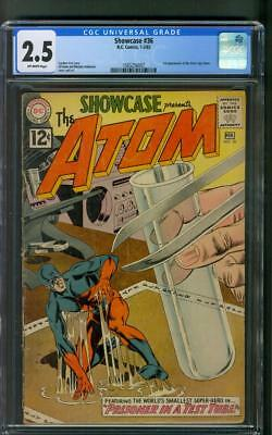 Showcase 36 3rd Silver Age Atom CGC 2.5 Gil Kane Murphy Anderson Cover 1-2/1962