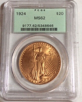 1924 MS62 $20 Gold Liberty PCGS Graded Coin, Beautiful Coin!!