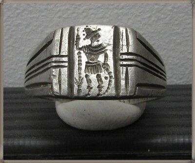 ** ROMA **Ancient Silver Legionary Roman Ring **AMAZING **