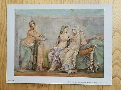 The Aldobrandini Wedding fine museum quality ancient Roman art  print
