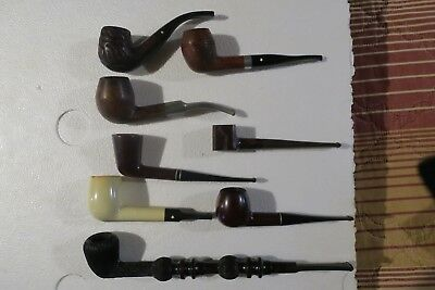 Lot of 8 vintage smoking pipes