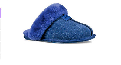 f4383aa3873 UGG SCUFFETTE II Navy Night SUEDE FUR CUFF SLIPPERS SIZE US 7 WOMENS