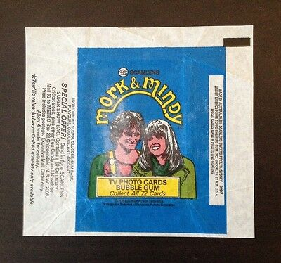 1978 Scanlens Mork & Mindy Trading Cards - Wax Pack Wrapper