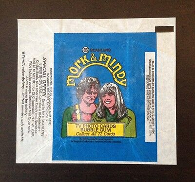 1978 Scanlens Mork & Mindy - Wax Pack Wrapper