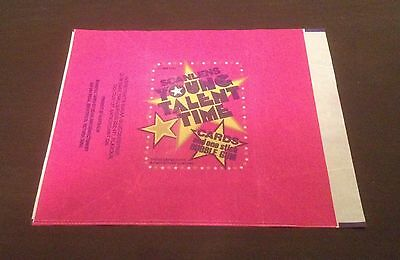 1986 Scanlens Young Talent Time Trading Cards - Wax Pack Wrapper