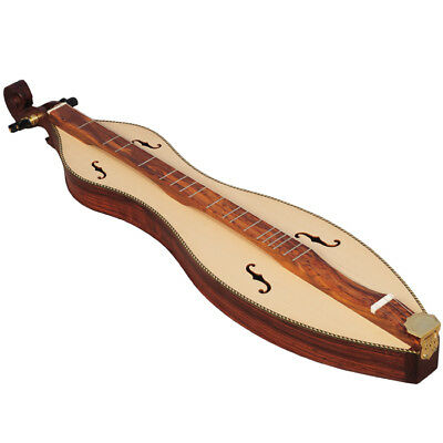 Heartland 4 String Premium Mountain Dulcimer F Hole Rosewood Hourglass Mountain