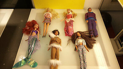 Barbie Doll mixed lot 18 pcs good condition nice clothes
