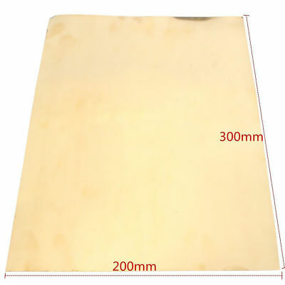 New Brass Metal Thin Sheet Foil 0.2x200x300mm For Handicraft Aerospace 1Pc