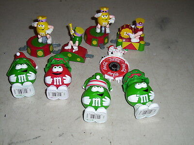 Lot of M&M guys 8 total plus one Coke Thermometer from 1998