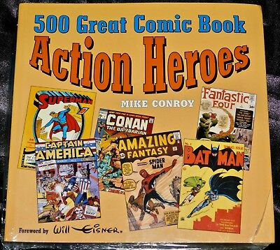 500 GREAT COMIC BOOK ACTION HEROES, softcover - sealed