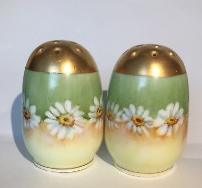 Antique Hand Painted*german Salt/pepper Cruets/shakers/pots*germany~Signed/stamp