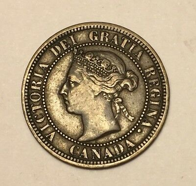 1887 CANADA LARGE 1 CENT coin penny
