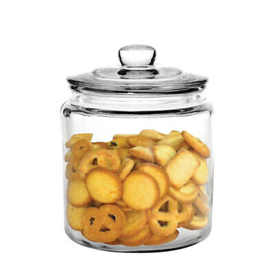 Glass Biscuit Jar 3.8L Olympia Classic Traditional Cookie Canister Barrel