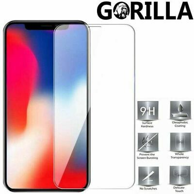 iPhone 11 XS Max XR 8 7 Plus 6 5 Clear Tempered Glass Screen Protector For Apple