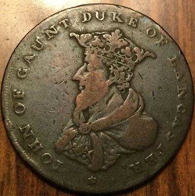 1792 Uk Gb Great Britain Lancaster Halfpenny Token