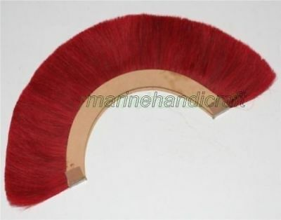 Helmet Hair RED Plume Brush for Ancient Roman Helmet Color Natural Horse Hair