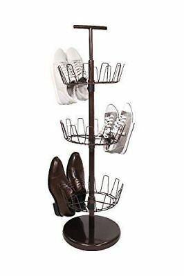 Tidy Living 3tier Revolving Shoe Rack 3 Storage Adjule Carousel Organizer