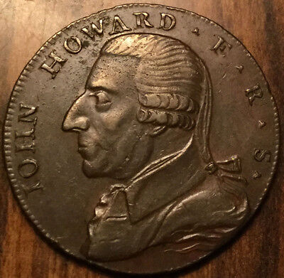 1792 Uk Gb Great Britain John Howard Warwickshire Birmingham Halfpenny Token