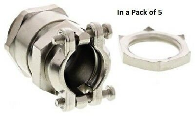 Lapp PG13.5 Metallic Nickel Plated Brass - 52004300+52003520 (In a Pack of 5)