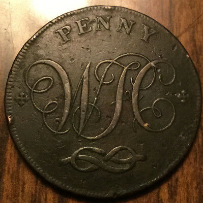 1803 Uk Gb Great Britain Stafford One Penny Token