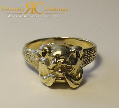 2c3f70f6f59bf HIGHLY POLISHED BULLS Head Jewellers Bronze Ring 15g Dipped in 9 or ...