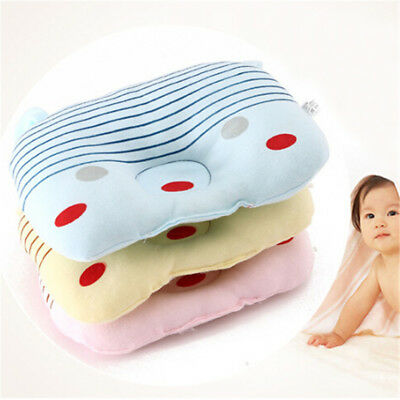 Soft Baby Shaping Pillow Cushion Prevent Flat Head Sleep Support Anti Roll