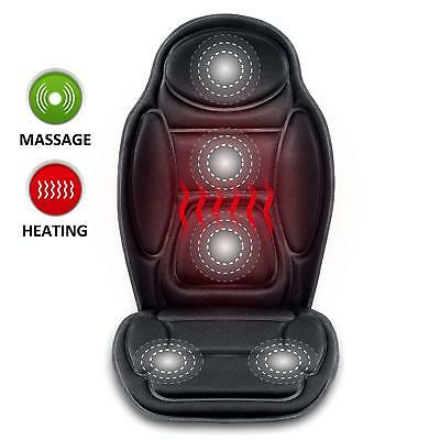 Snailax SL-262 Seat Cushion Vibrating Massage Heat Therapy Back Lumbar Thighs NE