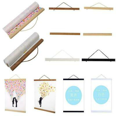 DIY Magnet Wooden Poster Frame Painting Scroll Nordic A4 A3 Photo Picture Hanger
