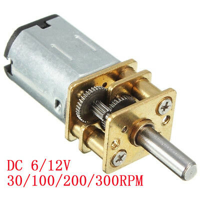 6/12V 300/30RPM Mini DC Metal Gear Motor with Gearwheel Shaft Diameter N20