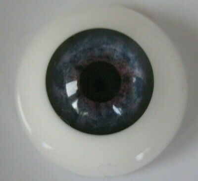 Reborn doll eyes 24mm Half Round  BLUE MIST