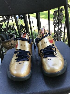 buy popular 7f2ab 58359 Nike Zoom KEVIN DURANT KD IV 4 OLYMPIC GOLD MEDAL SIZE 10.5 Swoosh sneakers