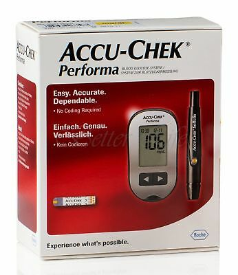 Accu-Chek Performa Blood Glucose Meter Kit Monitoring system Diabetic Case