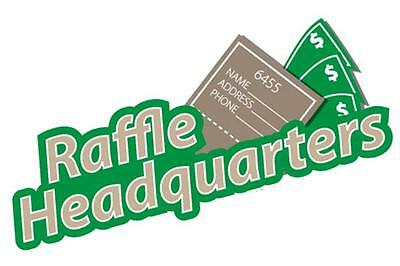 1000 Custom Printed Raffle Tickets Perfed & Numbered - BONUS 100 FREE TICKETS