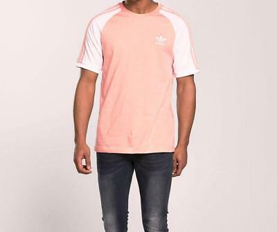 Adidas Originals Retro 3 Stripes California Tshirt Bnwt  Dust Pink Size M,L,Xl