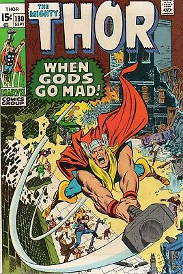 THE MIGHTY THOR 180 - Neal Adams art - September 1970. VFN/NM (8.5 to 9.0)
