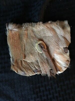 Vintage Native American Bag Deer Hide Fur