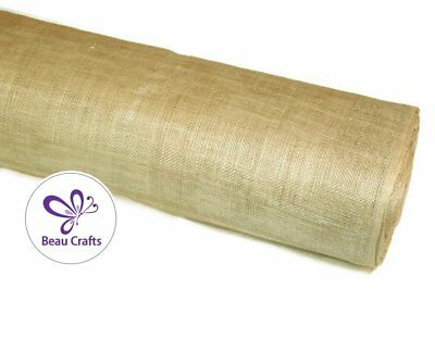 Sinamay Fabric for Millinery Hat Making Stiffened Natural Beige Sinamay Fabric