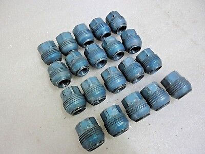 2010-2016 Camaro Factory OEM BLUE Lug Nuts 14X1.5mm Dual Thread Holds Cap 20 pcs