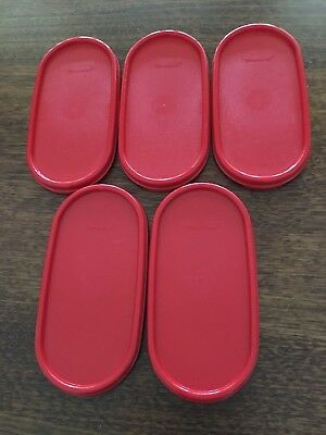 Tupperware Modular Mates Oval Chilli Red Seal/Lid