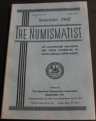 Antique Numismatist 1942 Commemorative Coins Hungary, Early US Silver Dollars