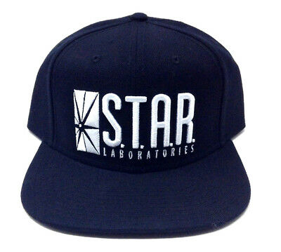 4a5875ed5d3 Dc Comics Flash S.t.a.r Star Laboratories Logo Black Adjustable Snapback  Hat Cap