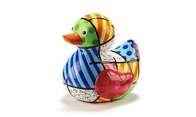"""New Romero Britto """"Joy"""" Duck New Day Limited Edition """"Dots/Lines"""" 334274"""