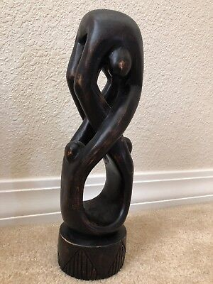 Wooden Art Statue. Handcrafted in Ghana. unique. Infinity Made From 3. Figure 8