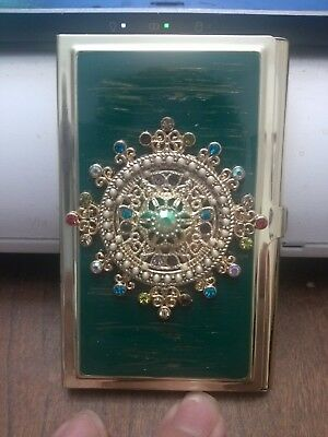 Jeweled Empire Business Card Holder New Colored Beads