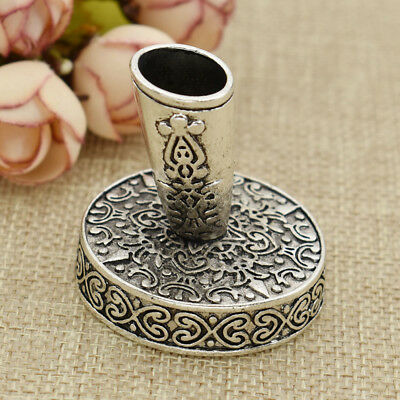 Office Pen Stand Continental Retro Dip Pen Socket Silver Carving Pen Stand 1pc