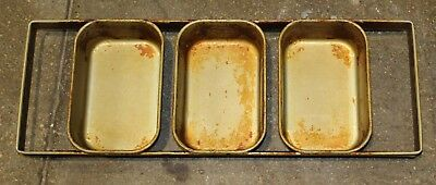 Lot of 5 used Mackies made in Australia 12-05 3-loaf Strap Bread Pans