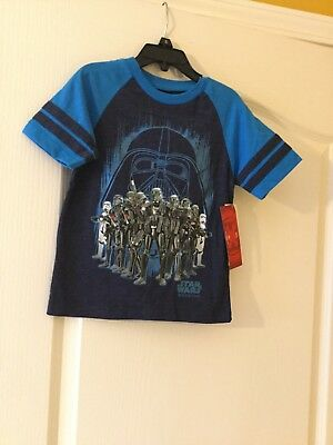 290e7fcb KIDS/BOYS BRAND NEW Disney Star Wars Rogue One Blue T-Shirt size XS ...